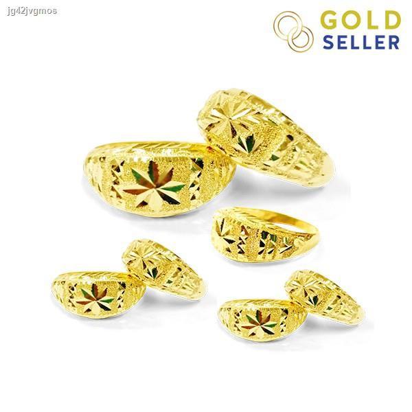 ราคาต่ำสุด✌Goldseller แหวนทอง หัวโปร่ง ครึ่งสลึง คละลาย ทองคำแท้ 96.5%