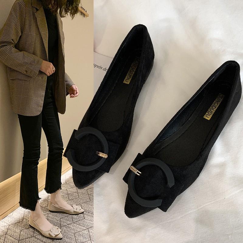 รองเท้าหัวแหลม😊รองเท้าคัชชูผู้หญิง😊รองเท้าเปิดส้น😊รองเท้าหัวแหลม รองเท้าคัดชูแฟชั่นสุตฮอต รองเท้าคัทชูหัวแหลม ส้นเตี้