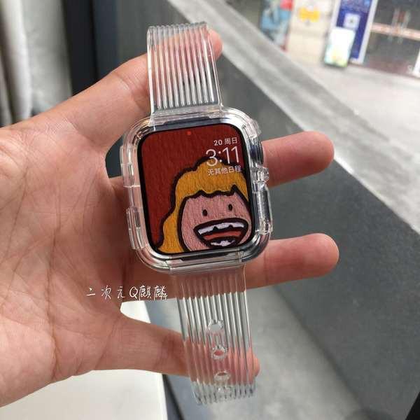 สาย applewatch Qqilin เหมาะสำหรับสายนาฬิกา Apple สายนาฬิกา iwatch 5/4/3/6 / SE รุ่น applewatch one