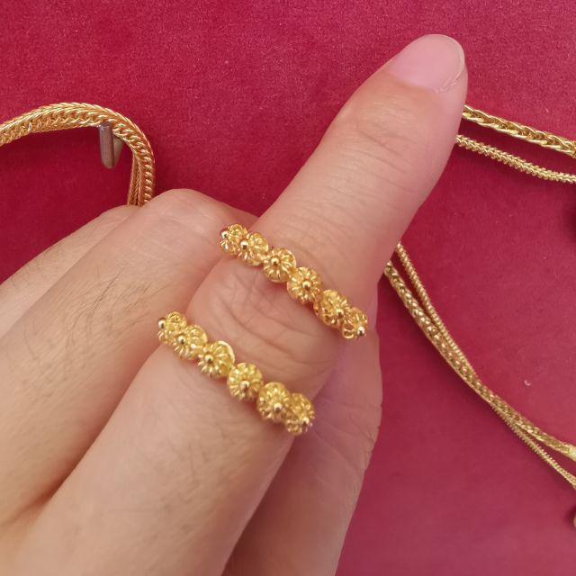 ##ซื้อเฮงใส่ดี แหวนพิกุลทอง 96.5%  น้ำหนัก ครึ่งสลึง ไซ้ร 48-55 ราคา 4,400บาท
