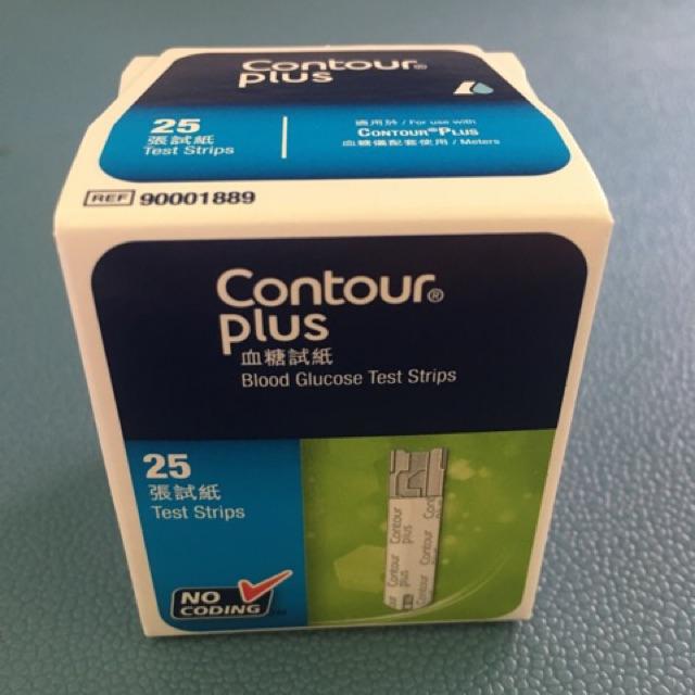 Contour Plus แถบตรวจวัดน้ำตาลในเลือด
