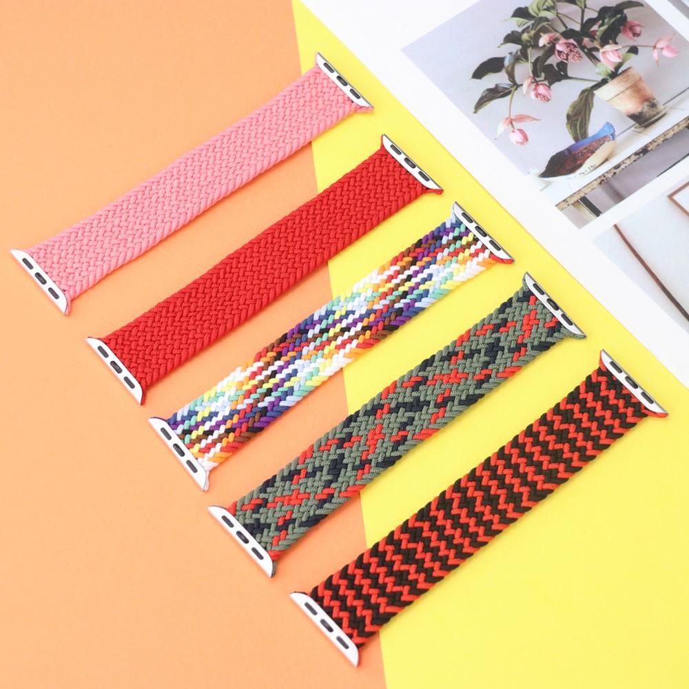 1:1 braided fabric สายนาฬิกาไนล่อน Apple Watch 6 44 มม 40มม 38 มม 42 มม iwatch series 6 se 5 4 3 2 1 สาย applewatch nn0U