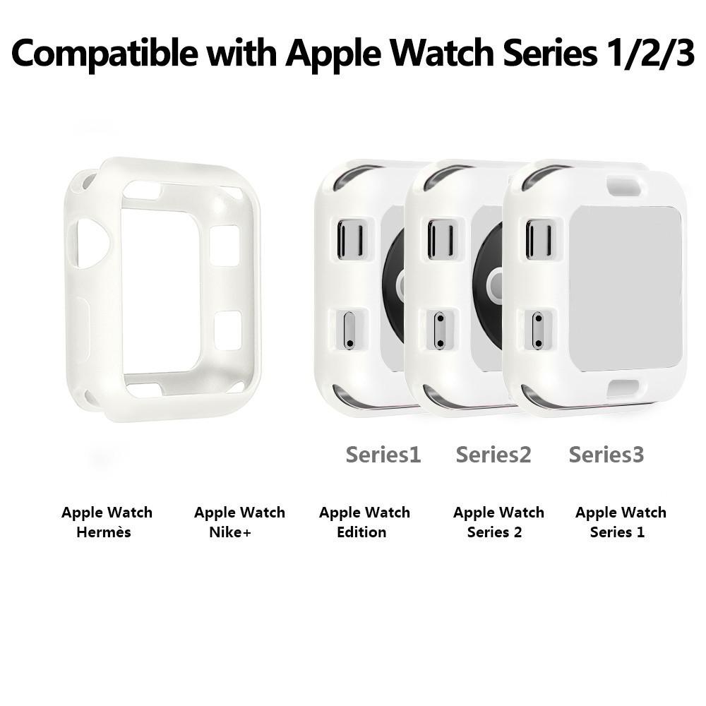 ซิลิโคนอ่อนสำหรับ Apple Watch 1/2/3/4/5/6 Iwatch 38 มม. 40 42 44 Iwatch Series Se 6/5/4/3/2/1 Tpu Case Case Apple Watch Case Applewatch จุกซิลิโคน
