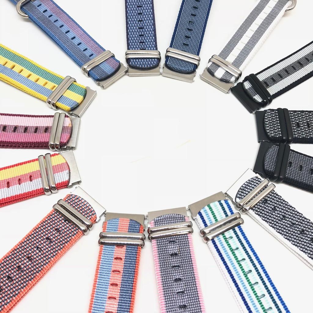 สาย applewatch สาย applewatch แท้ สายนาฬิกาแบบผ้า หลากสีสัน ขนาด 20 mm สำหรับ Xiaomi Amazfit และ Smart Watch
