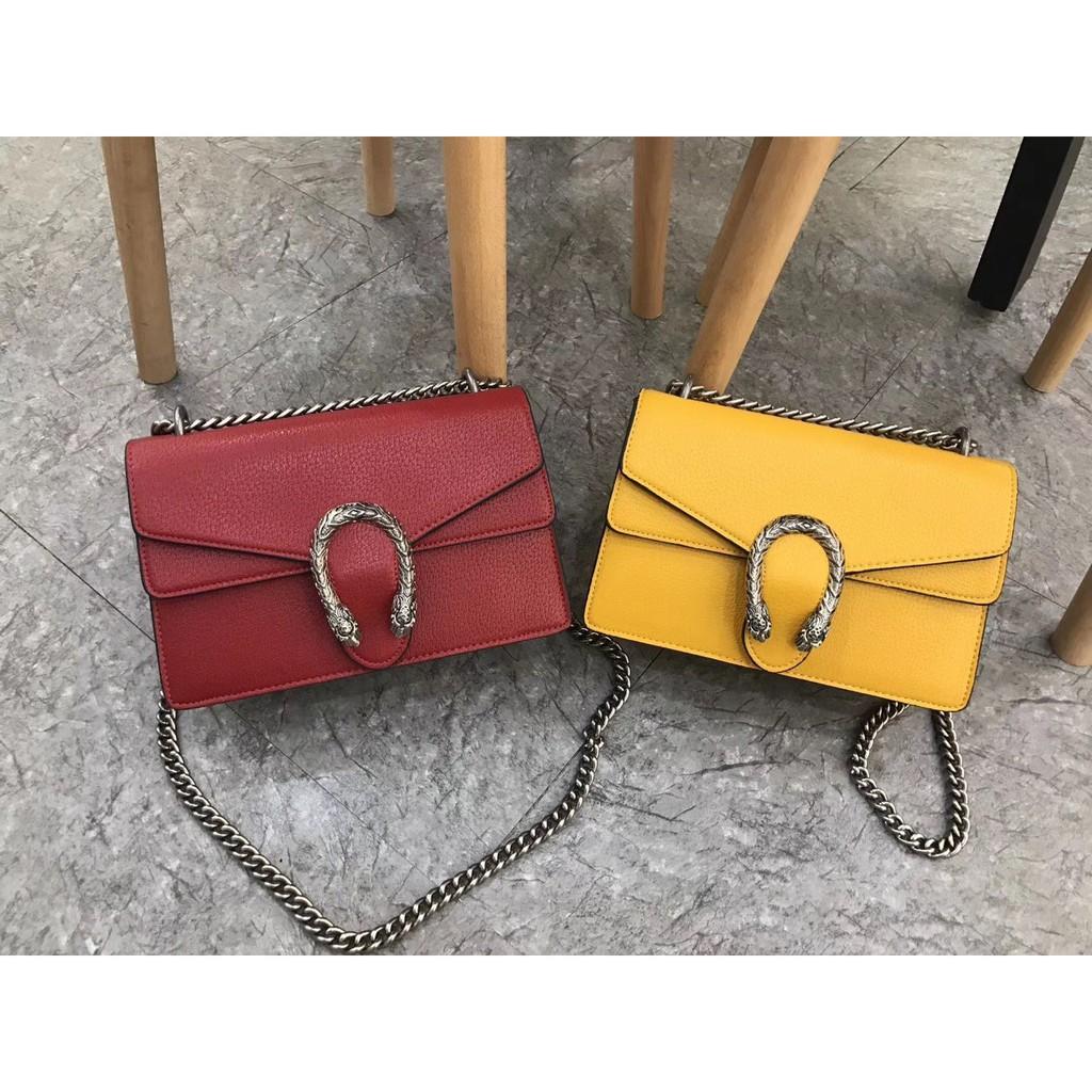 Gucci Gucci classic handbags กระเป๋า Dionysus Dionysus tiger head shoulder bag diagonal bag c