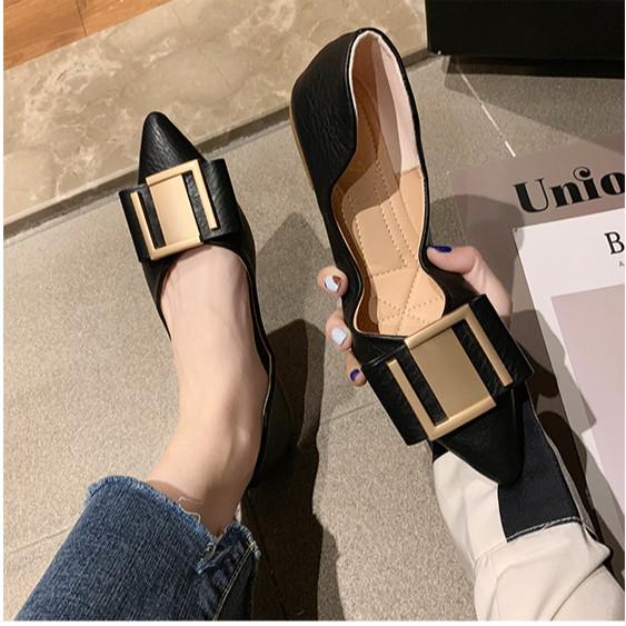 รองเท้าคัชชูหัวแหลม🍒รองเท้าเปิดส้น🍒รองเท้าส้นแบนรองเท้าหัวแหลม รองเท้าส้นแบน รองเท้าแฟชั่น รองเท้าผู้หญิง ส้นเตี้ย