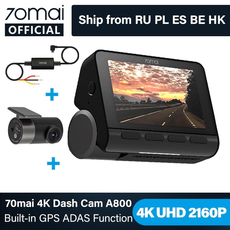 70mai A800 4K Car DVR Dual Vision Cam with Built-in GPS ADAS 70mai 4K Dash Cam A800 UHD 24H Parking Monitior 70mai Camer
