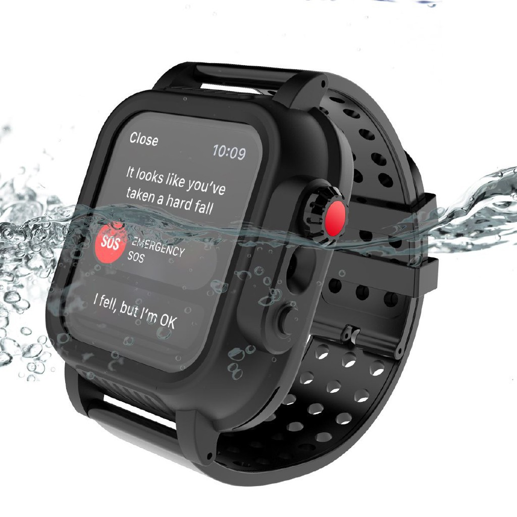 iWatch Series 3 2 38mm 42mm Band Case IP68 Waterproof Case Apple Watch 3 Swimming Proof Strap