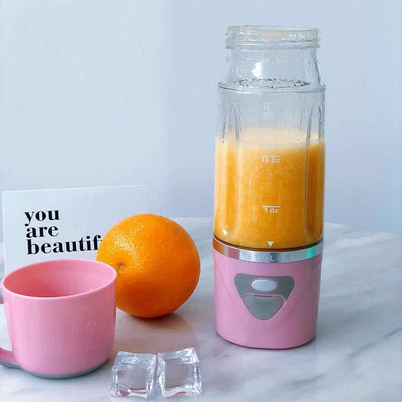 แก้วคั้นน้ำผลไม้สุทธิสีแดงไฟฟ้าแบบพกพาอาหารเสริมเด็กเครื่องทำอาหารกาแฟกวน USB ถ้วยน้ำบ้าน