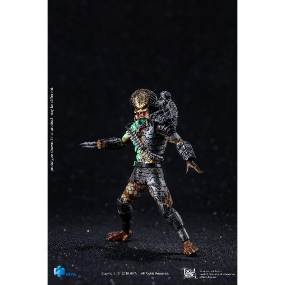 1/18 Figure - HIYA - Battle Damage Jungle Hunter Predator