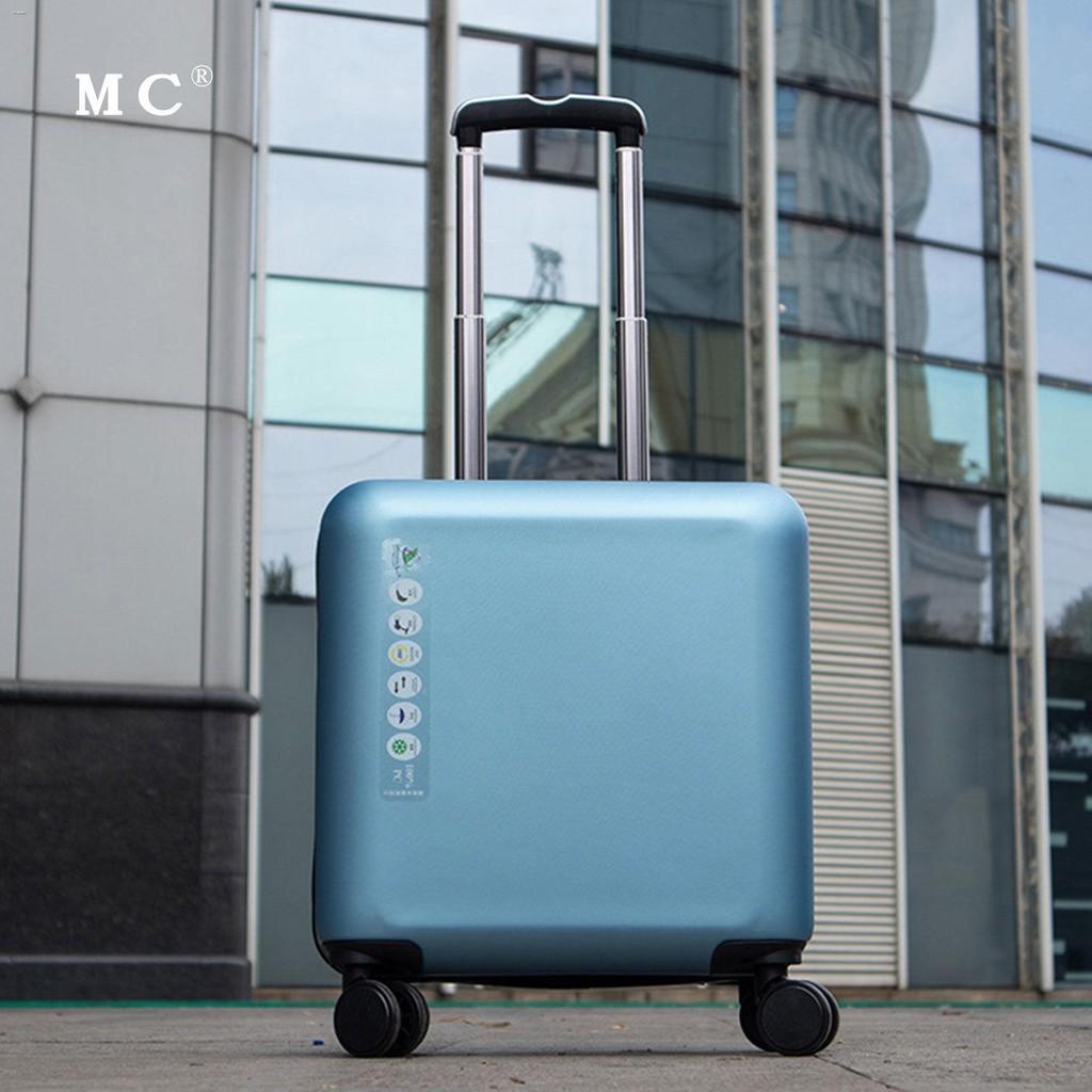 ♣۞☃กระเป๋าเดินทางสำหรับธุรกิจขนาดเล็กและน้ำหนักเบา กระเป๋าเดินทางสำหรับรถเข็นสำหรับสุภาพสตรีขนาด 18 นิ้ว ผู้ชาย 20 นิ้ว