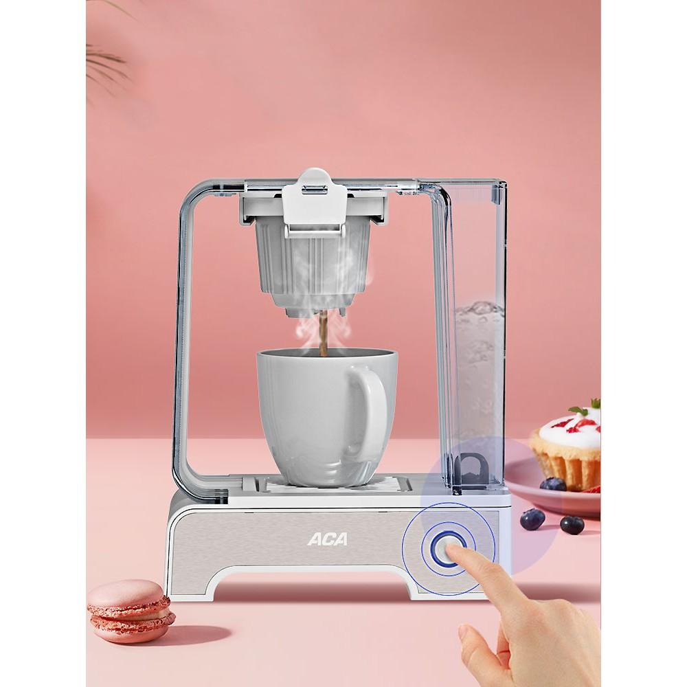 เครื่องชงกาแฟอัตโนมัติ เครื่องทำกาแฟ ACA Coffee Maker Home Full Automatic Mini Drip Coffee Maker Italian Mini
