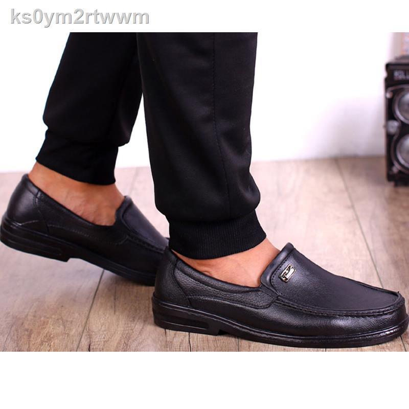 รองเท้าหนังผู้ชาย◆Sunny flower รองเท้าไม่มีส้นของผู้ชายรองเท้าคัชชูชายรองเท้าชายรองเท้าคัชชูผชรองเท้าคัทชูชายเย็บพื้น