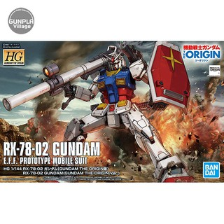 Bandai HG RX-78-02 Gundam (Gundam The Origin Ver) 4573102589293 (Plastic Model)
