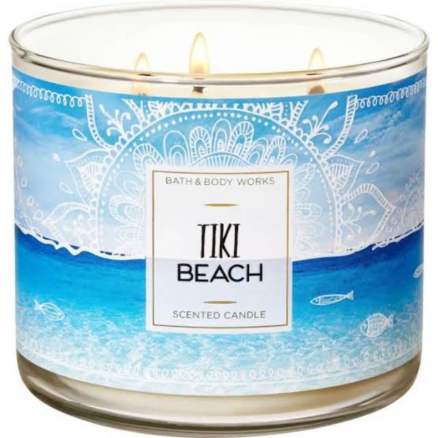 Bath & Body Work เทียนหอม TIKI BEACH 3-Wick 411 g