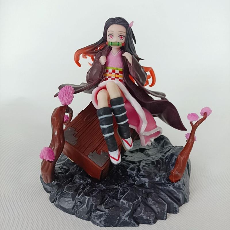 (In Stock)Anime Demon Slayer Kimetsu no Yaiba Nezuko Kamado PVC Action Figure  Anime Figure Model Toys Collection Doll G