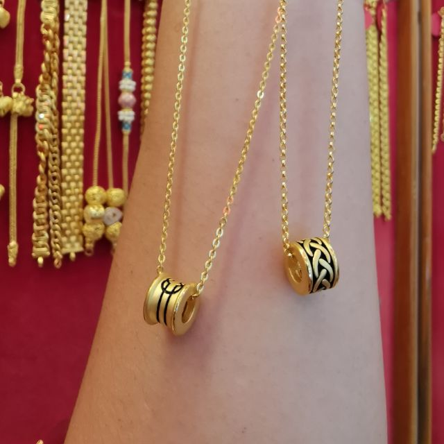 จี้บีดอักษรมงคลทองแท้ 99.99 น้ำหนัก 1 กรัม ราคา 3,190