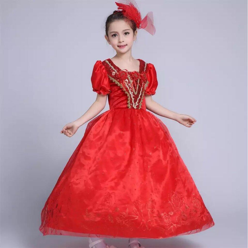 (SALE) ชุดเจ้าหญิงสีแดง (เหมาะทุกเทศกาล ใส่ขึ้นแสดง, คริสมาสต์ , ตรุษจีน)