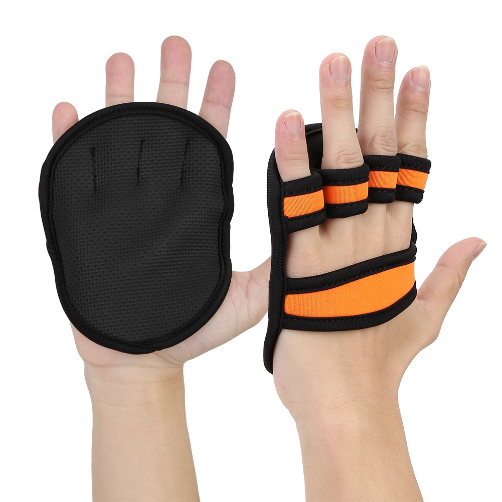 Ingenious 2pcs Unisex Anti Skid Weight Lifting Training Gloves Dumbbell Grips Pads Gym Bench Press Fitness Sports Hand Palm Protector Fitness Gloves