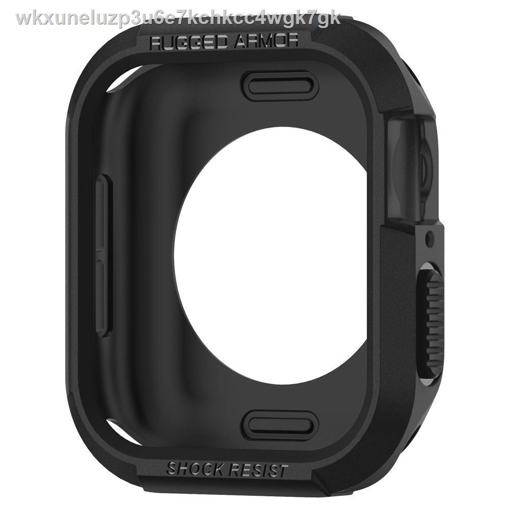 🔥รุ่นขายดี🔥☏SPIGEN เคส Apple Watch 5/4 (40mm) Case Rugged Armor: Black