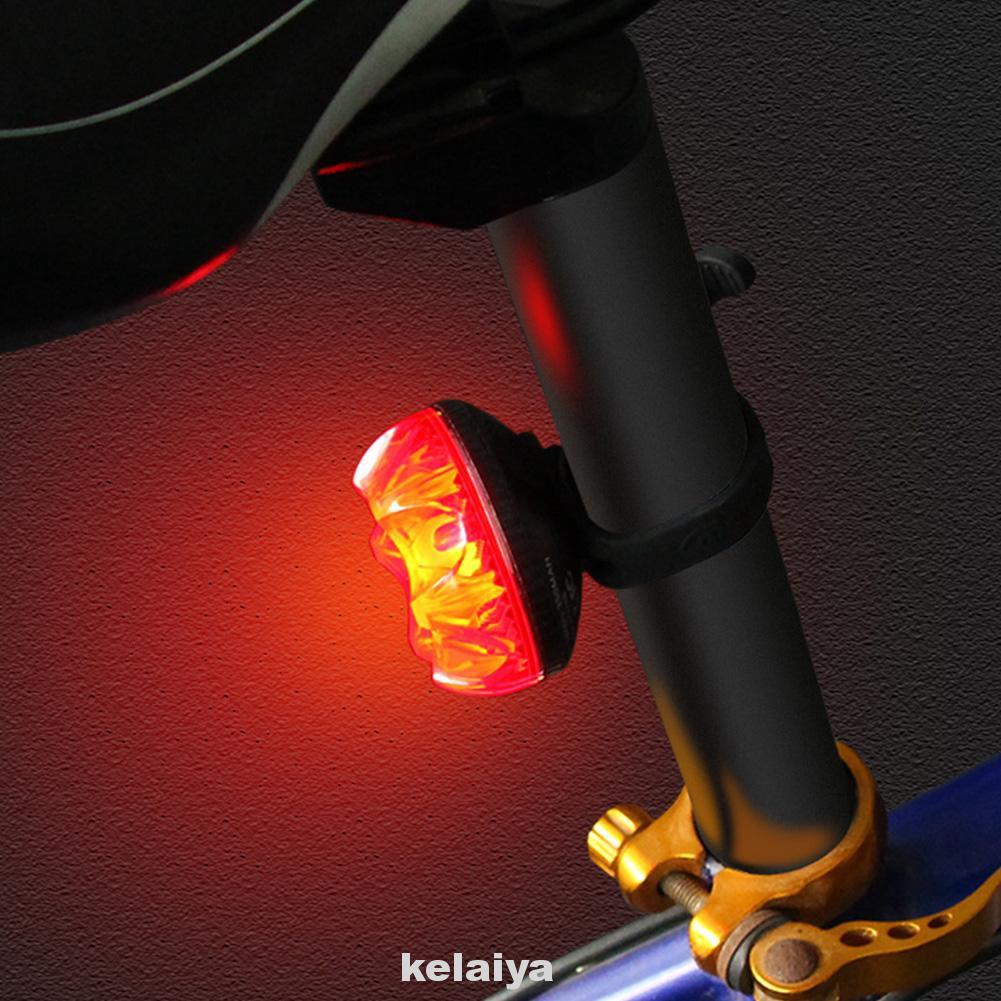 Led Waterproof Bicycle Tail White Flash Light Bike Safety Cycling Warning LampZP