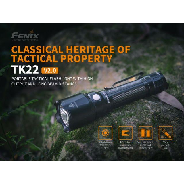 ไฟฉาย Fenix TK22 V.2 สินค้ารับประกัน 3 ปี