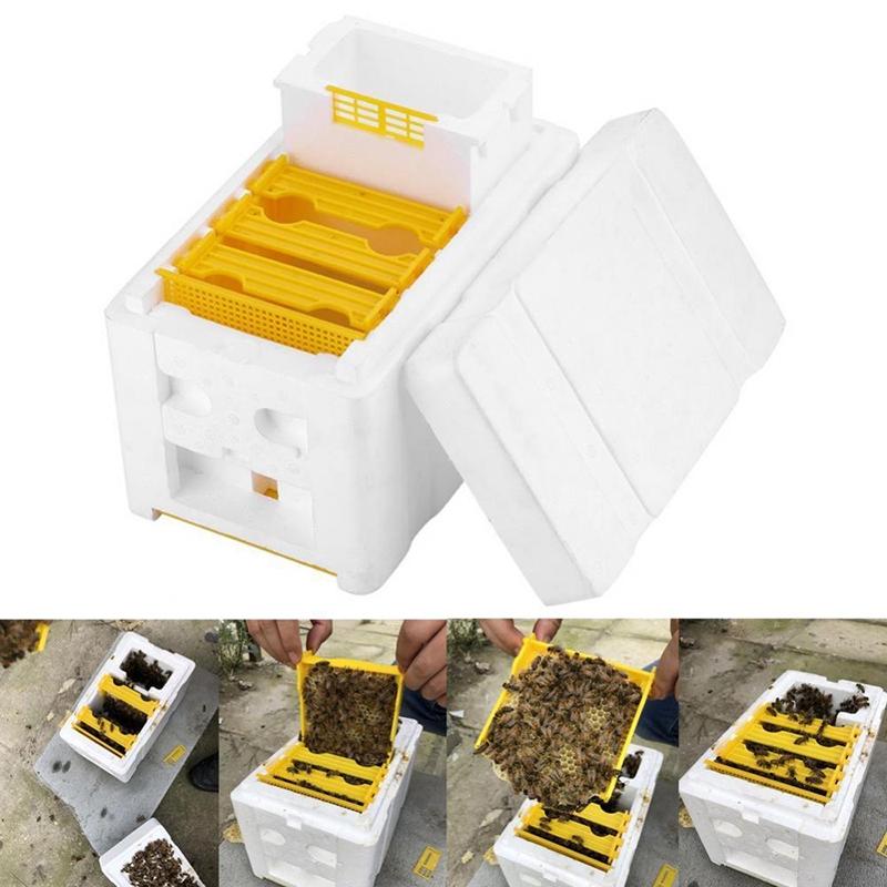 1* Round Beekeeper Beekeeping Rapid Bee Hive Water Feeder Keeping Tool 26x5.5cm