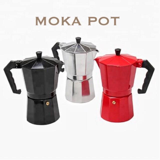 Moka pot หม้อต้มกาแฟ กาต้มกาแฟ เครื่องชงกาแฟ อุปกรณ์ทำกาแฟ