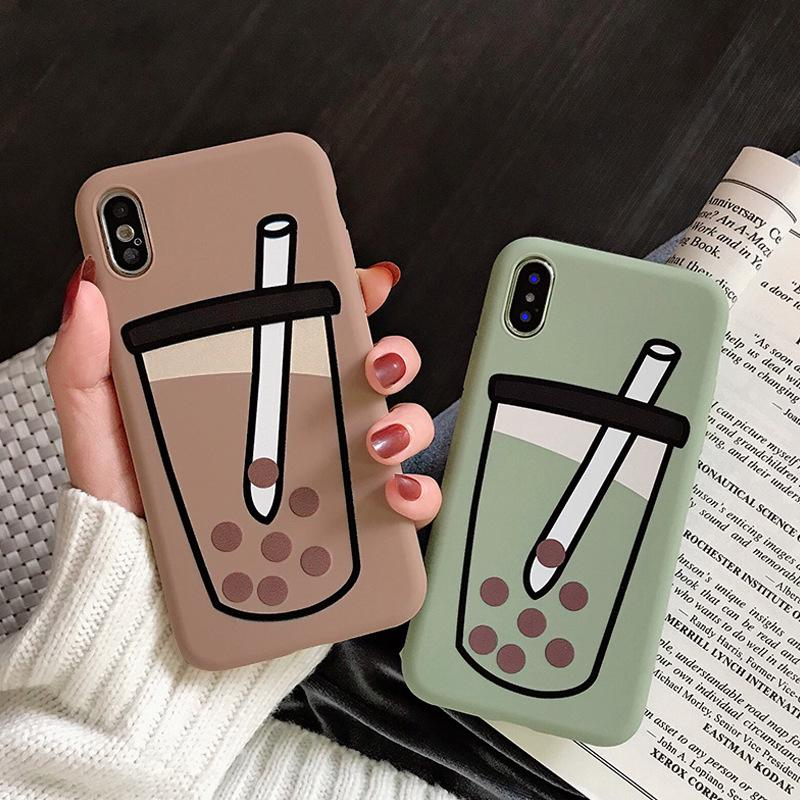Review เคส iphone เคซิลิโคน iphone  เคส iphone 11 ชานมไข่มุกเคสiPhone11/11Pro 11pro Max X XR XS XS MAX 6 7 8 plus  iphone SE