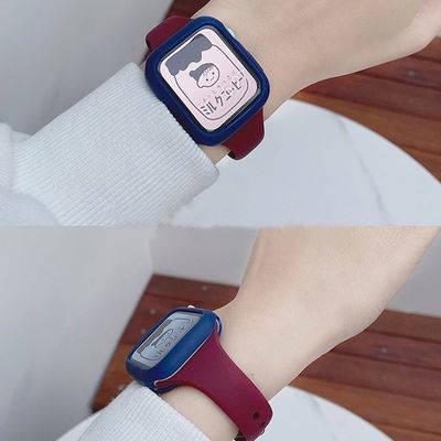 สายนาฬิกา สายนาฬิกา applewatch สายนาฬิกาอัจฉริยะ สาย applewatch Applicable iWatch6 strap small barbaric waist silicone a