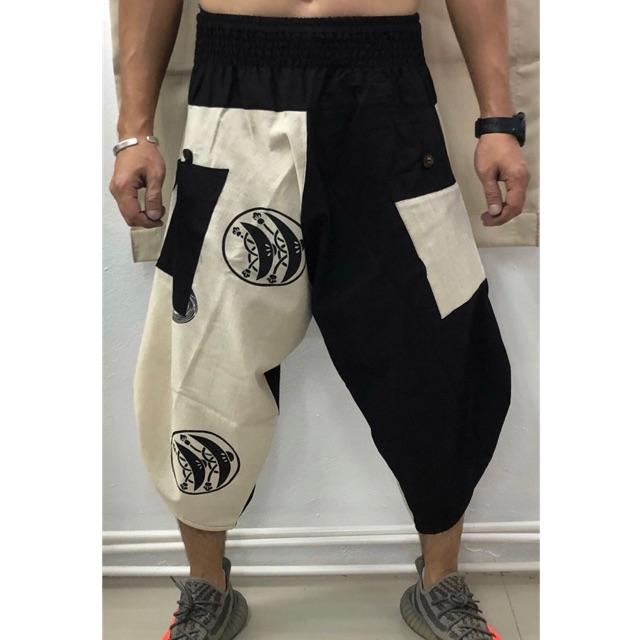 Samurai Pants กางเกงซามูไรเอวยางยืด