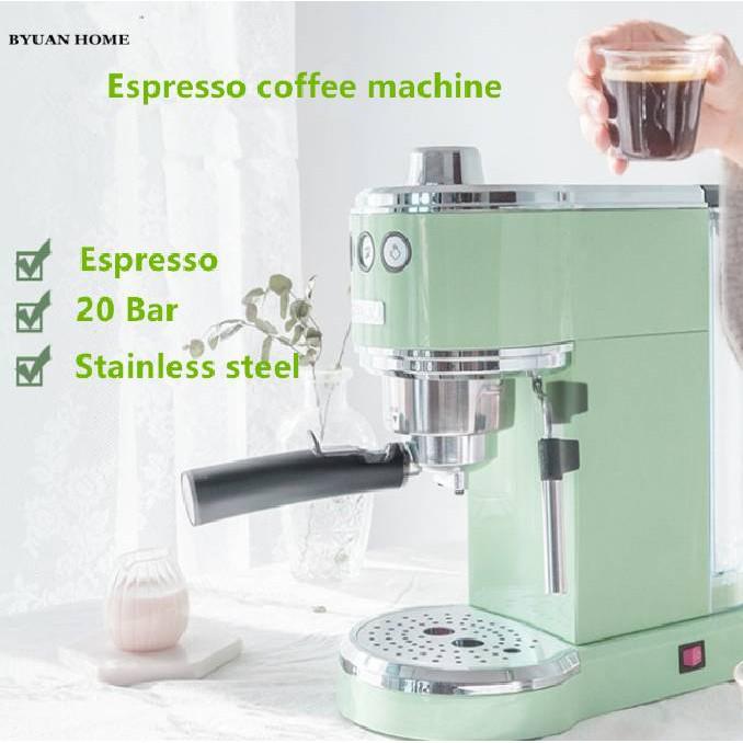 เครื่องชงกาแฟขนาดเล็ก เครื่องชงกาแฟมินิ เครื่องชงกาแฟกึ่งอัตโนมัติ ทำฟองนม กาแฟสด กาแฟกึ่งอัตโนมัติย้อนยุค