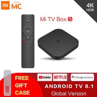 Original Global Xiaomi Mi กล่องทีวี S Android TV 8 1 IPX TV