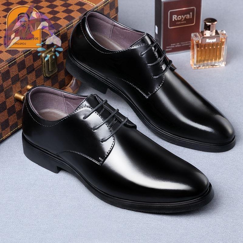 PIPES รองเท้าคัชชูผู้ชาย  รองเท้าหนังผู้ชาย №▽รองเท้าหนังผู้ชายหนังแท้รองเท้าสำหรับผู้ชายรองเท้าหนังผู้ชายระบายอากาศ