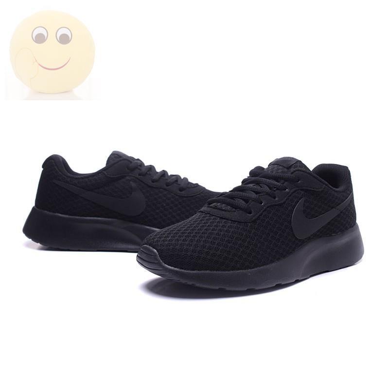 คัชชู☒Nlke รองเท้าผ้าใบลำลอง สีดำ สำหรับผู้ชายและผู้หญิง