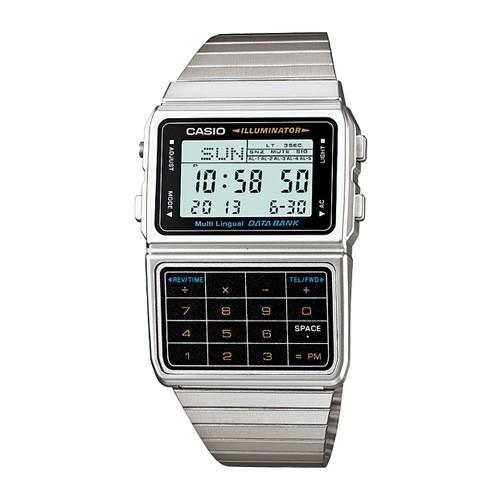 นาฬิกาคาสิโอของแท้ Casio นาฬิกาข้อมือผู้ชาย สายสแตนเลส สีเงิน รุ่น DBC-611