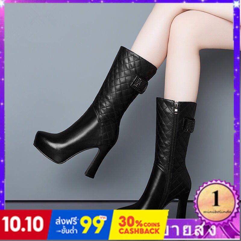 ⭐👠รองเท้าส้นสูง หัวแหลม ส้นเข็ม ใส่สบาย New Fshion รองเท้าคัชชูหัวแหลม  รองเท้าแฟชั่นครึ่งหลอดรองเท้านุ่มรองเท้าผู้หญิงบ