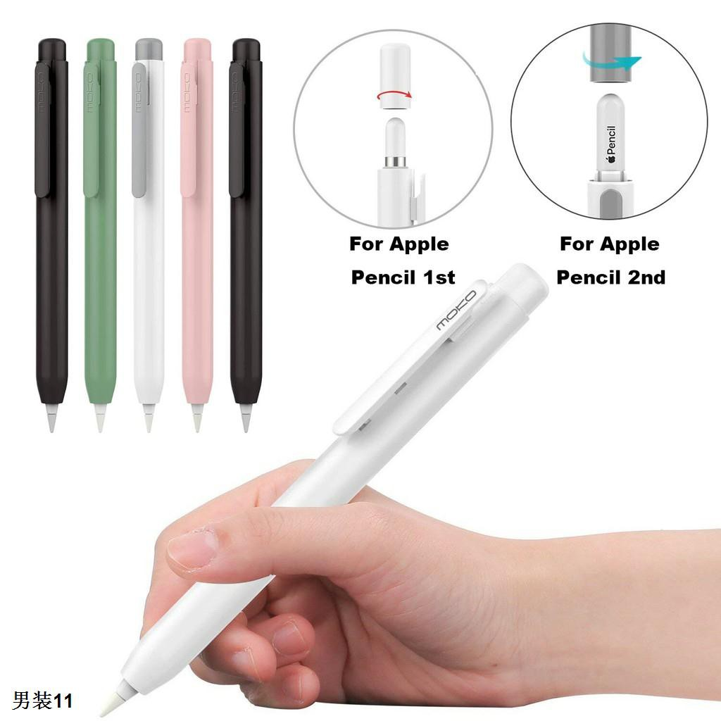 Moko Protective Case Holder for Apple Pencil 1st/2nd with Built-in Clip,Retractable Tip Protection,Spring Button,Secure