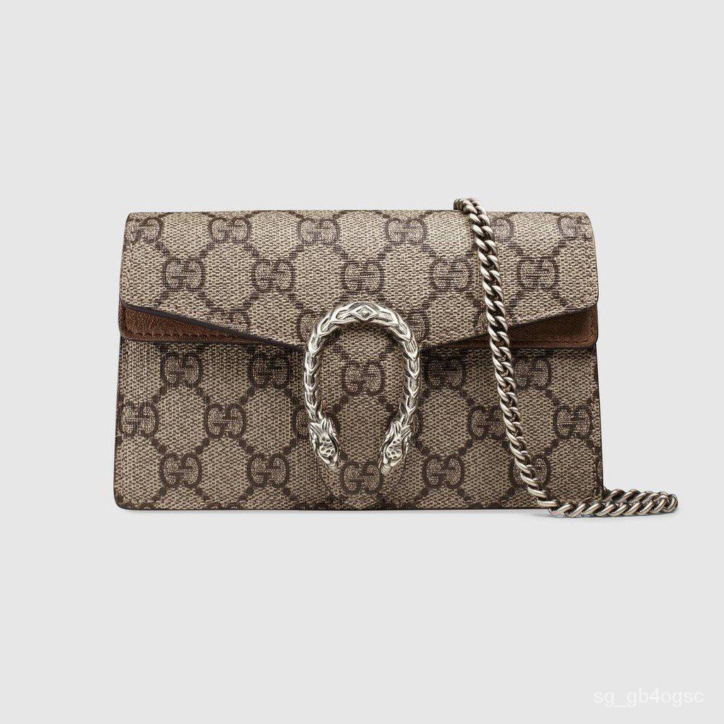 Gucci / ใหม่ / Dionysus ซีรีส์ผ้าใบเทียมคุณภาพสูงซูเปอร์มินิกระเป๋าถือ / กระเป๋าสะพายสุภาพสตรี / ของแท้ 100%)