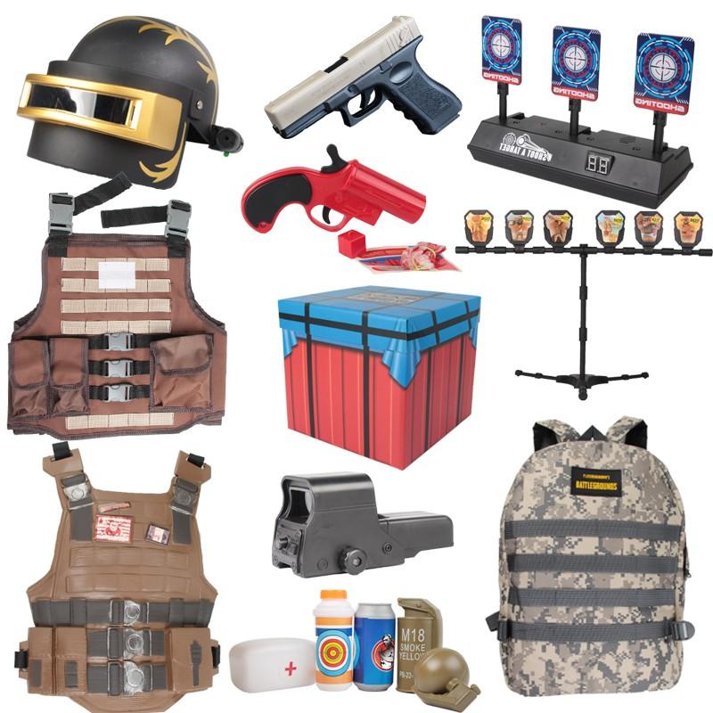 เด็ก AWM Jedi ไก่อุปกรณ์ของเล่นเด็กชุดสไนเปอร์ airdrop กล่องทองกระดูกงูหมวกกันน็อคปืนฉีดน้ำ