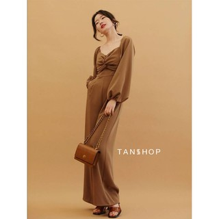 TANSSHOP​ -​ Long-sleeved jumpsuit twist design J391