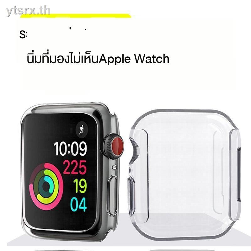 Case Apple Watchนาฬิกาข้อมือ Apple Watch Seriesเคส Apple Watch CaseApple watch 1234 generation protective shell all-inclusive silicone transparent iwatch5 cover with film