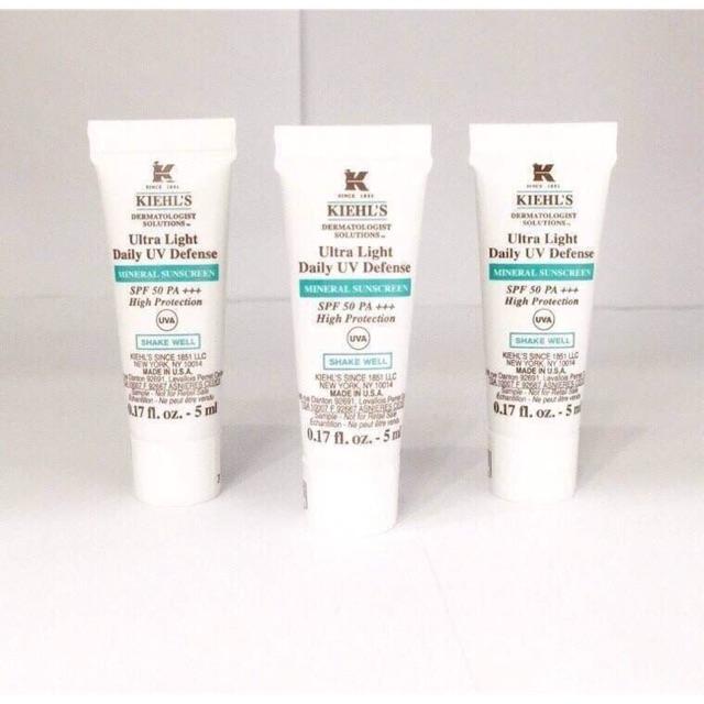 Kiehl's Ultra Light Daily UV Defense Mineral Sunscreen SPF 50 PA+++ 5ml.🎈 (ส่งฟรี EMS) | Shopee Thailand