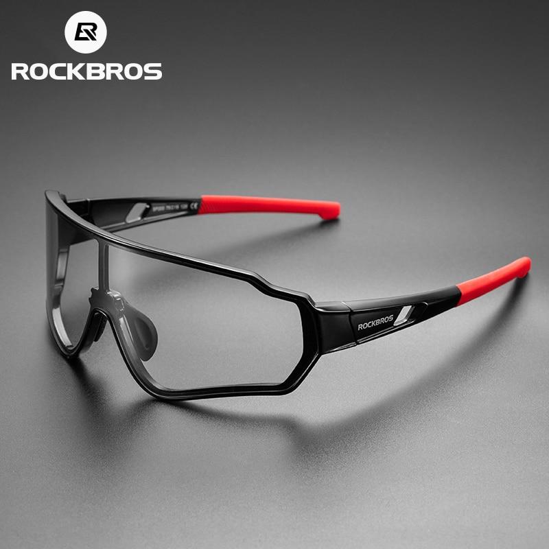 ROCKBROS Bicycle Sunglasses Men Women Photochromic Polarized Bike Glass Outdoor UV400 Sports Cycling Eyewear Glasses