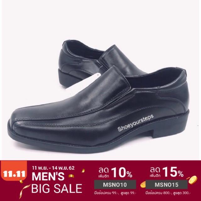 """รองเท้าหนังผู้ชาย รองเท้าคัชชูผู้ชาย ลด 50.- ใส่โค้ด """"WCMER30"""" รองเท้าคัทชูผู้ชาย CSB CM500 สีดำ ไซส์ 39-47"""