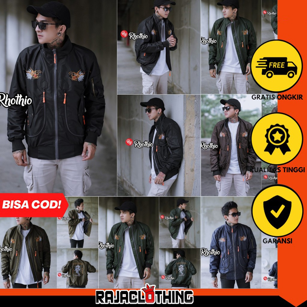 Rcl - เสื้อแจ็คเก็ตบอมเบอร์ปักลาย Sukajan / Sukajan 2021 / Jacket Sukajan สําหรับผู้ชาย