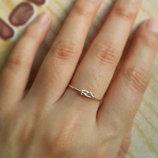 Minimalist925 Infinity knot ring เงินแท้