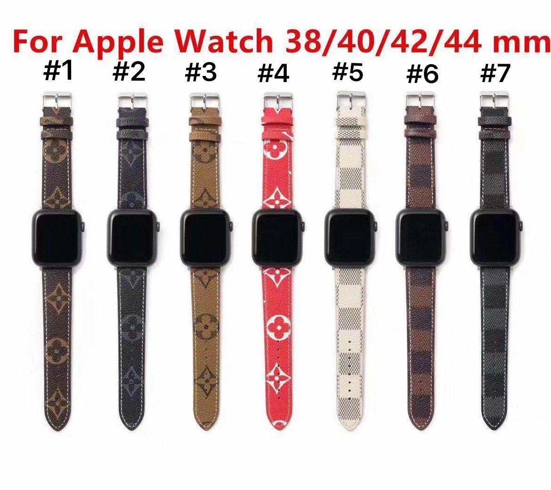 Brocade สายนาฬิกาข้อมือหนังสําหรับ Applewatch 12345 Generation