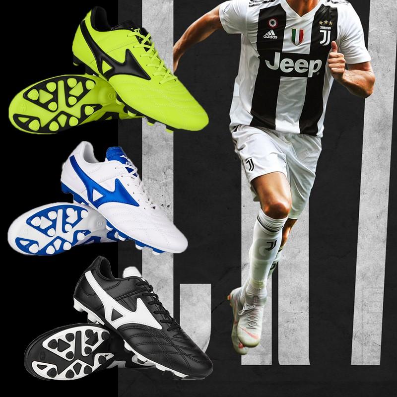 Mizuno Morelia Neo II FG Mizuno รองเท้าฟุตบอล Moreira Series FG Football Sole 39-45 สีขาวสีเขียวสีดำ