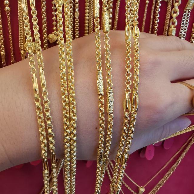สร้อยคอทอง 96.5%  น้ำหนัก 2 สลึง ยาว 24.5-25cm ราคา  15,500บาท